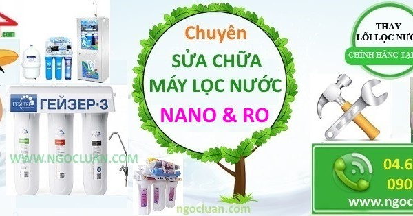 Sua may loc nuoc tai cau am
