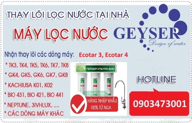 Thay loi may loc nuoc nano geyser ecotar 4