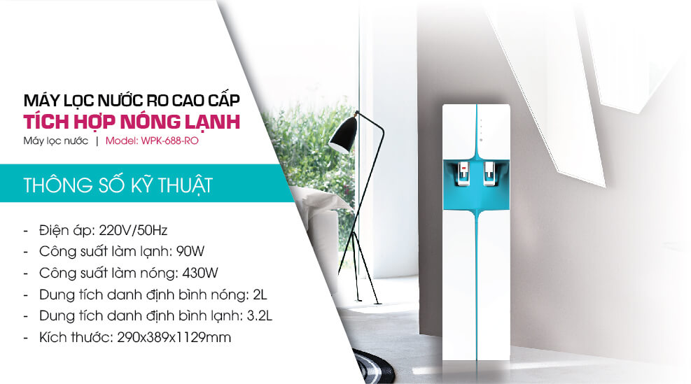 Cay nuoc nong lanh korihome wpk-688-hb