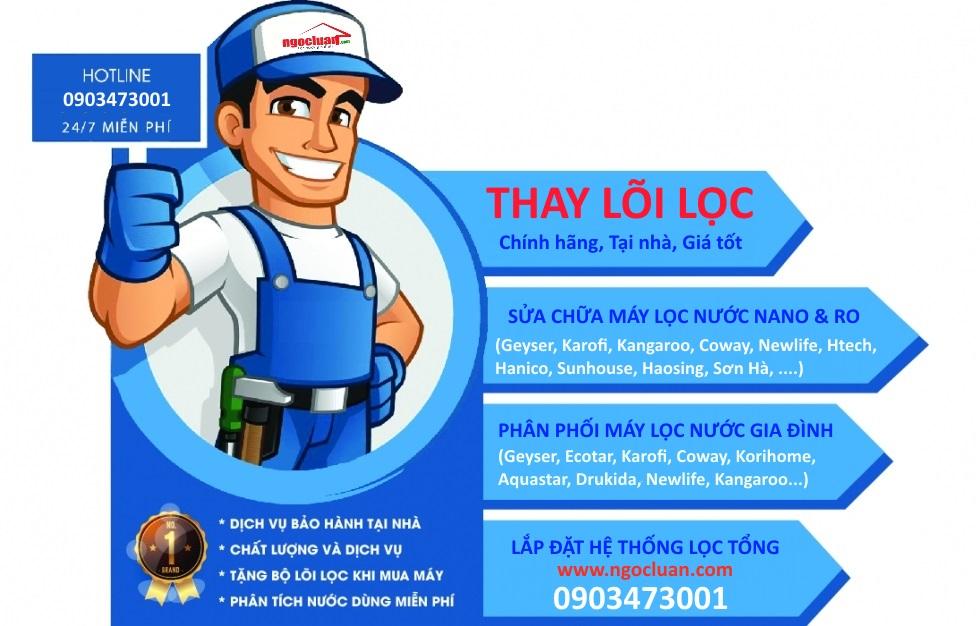 khac phuc may loc nuoc khong ra nuoc