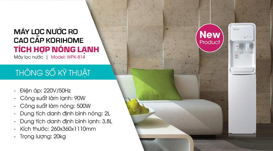 may loc nuoc ro cao cap tich hop nong lanh wpk-814
