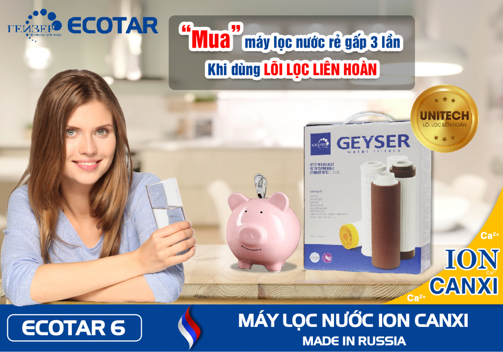 may loc nuoc ion canxi geyser ecotar 6