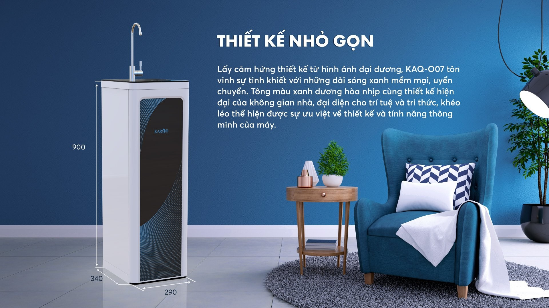 kich thuoc may loc nuoc karofi o07